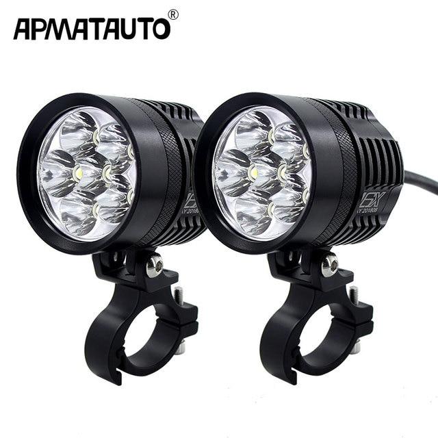 2x 12000lm 6000k Led Motorcycle Bike Headlight Bulb