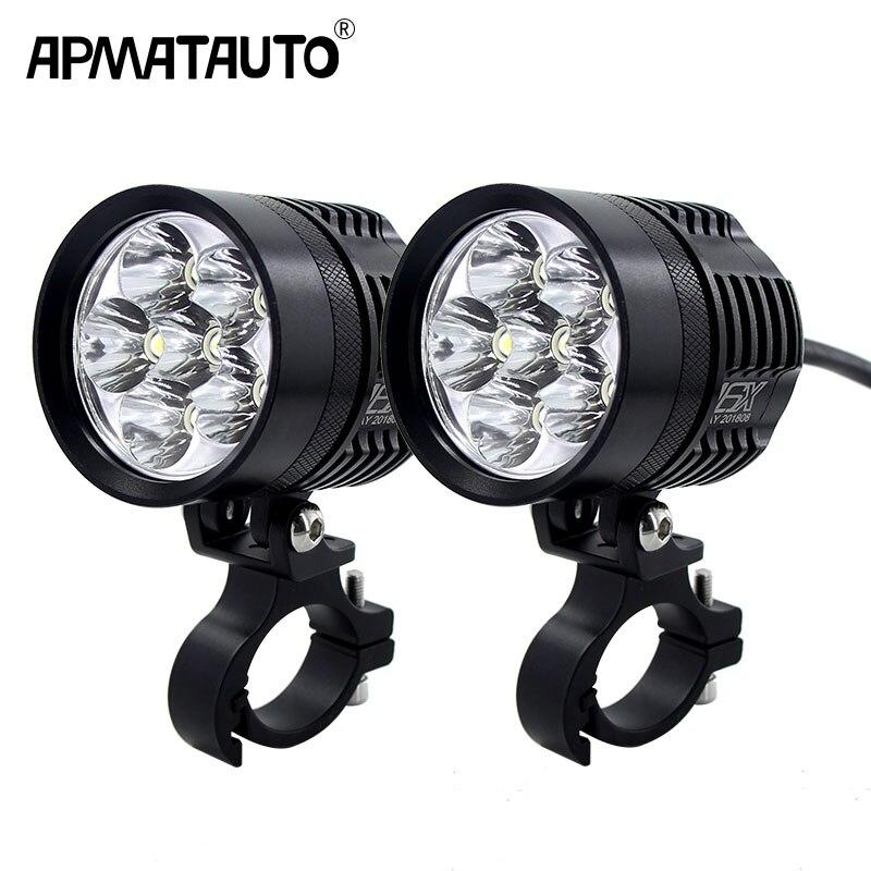 2x 12000lm 6000 k Led MOTO vélo Phare ampoule Étanche Conduite Spot Brouillard Lumières Externe MOTO DRL Accessoires ampoule 12 v