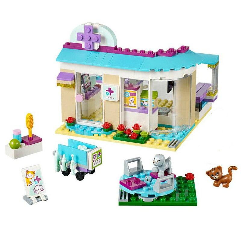 BELA 10537 Vet Clinic Building Blocks Toys Best Gift for Girls Compatible LegoINGly Friends 41085 Pet Hospital