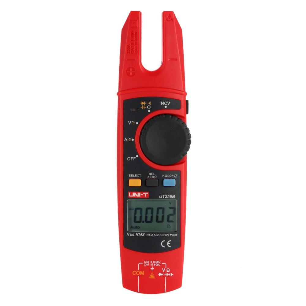 UNI T UT256B портативный True RMS цифровой вилка измеритель зажим AC/DC Напряжение Ток Сопротивление NCV тест с регулируемой подсветкой