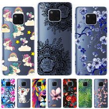 Soft Case For Huawei Mate 20 Pro Cover Colorful Pattern Printing Phone Back Fundas 6.39 Inch