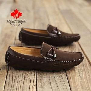 Image 2 - 2020 חדש מותג גברים נעליים יומיומיות זכר סתיו & קיץ אופנה נעלי סירת איש קומפי להחליק על מותג זמש ופרס נעליים לגברים