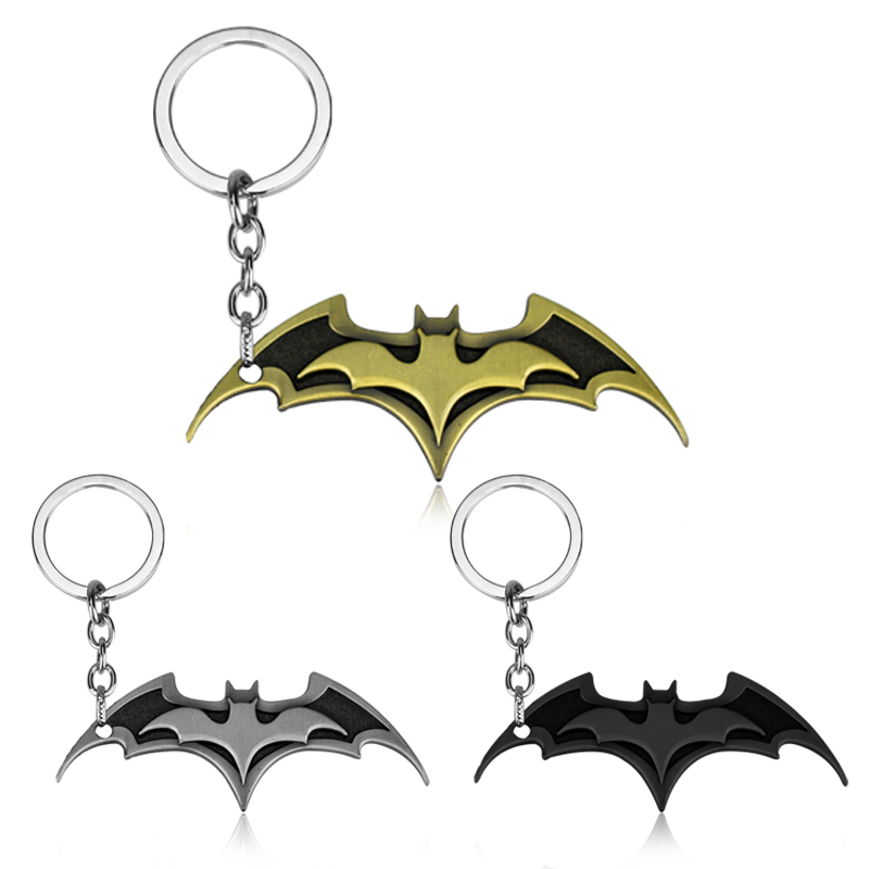Movies Series Keychain Super Hero Batman Logo Keyring 3 Colors image