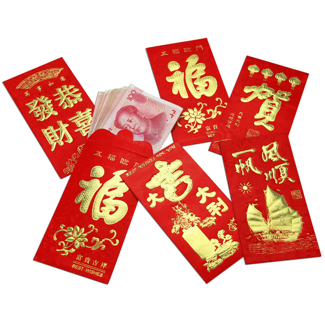 new 2017 48pcslot chinese new year red envelopes large size lucky money packet spring - Chinese New Year Red Envelope