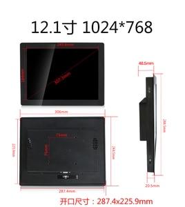 Image 2 - Monitor Industrial de carcasa metálica de 12 pulgadas, pantalla visualización táctil USB con salida HDMI, VGA, DVI, AV, BNC