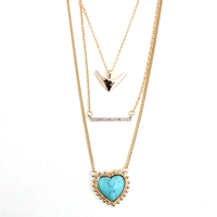 CHICVIE Handmade Chain Necklace Anchors Charm Crystal Necklace For Women Vintage Jewelry SNE160081