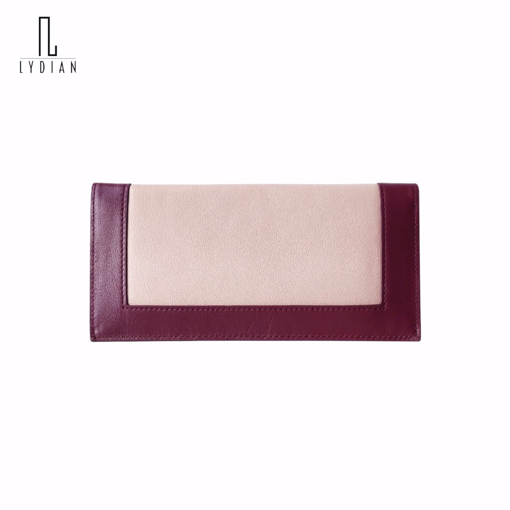 Lydian Long Ladies Wallet 2017 New Pink Womens Purse Sweet Bags Brand Wallet Monederos 2 Folds Hasp Phone Cases Money Day Clutch
