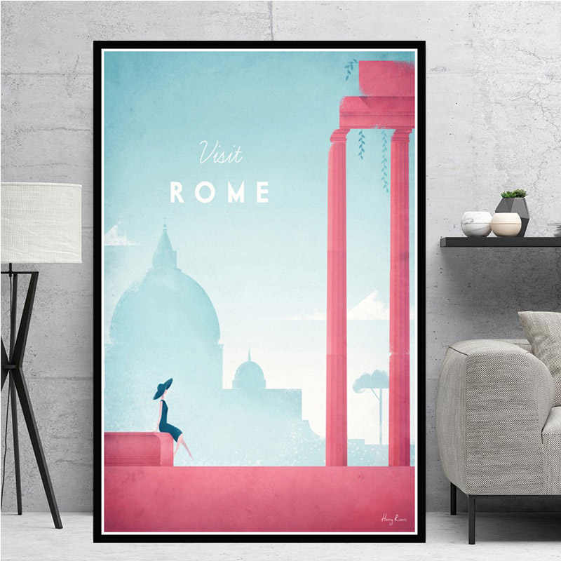Minimalist New York Travel City London Los Angeles Mexico Poster Prints Painting  Wall Art Pictures Living Room Home Decoration