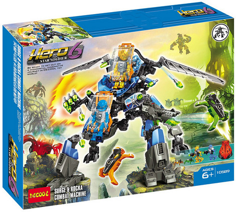 building block set compatible with font b lego b font Hero Factory Super fit walkers 3D