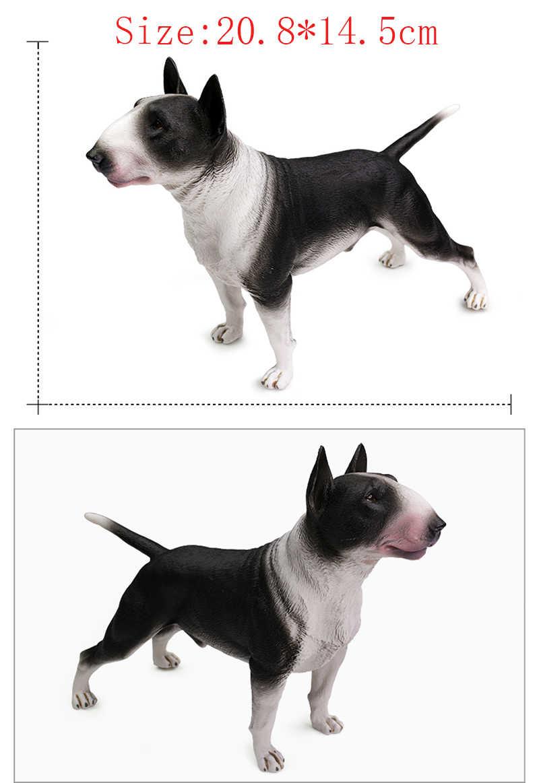 DDWE 20.8 CENTÍMETROS Bull Terrier Bulldog dog Pet Animais Figuras modelos de Simulação de Animais Crianças brinquedos Cognitivos Fotográfico Adereços brinquedo