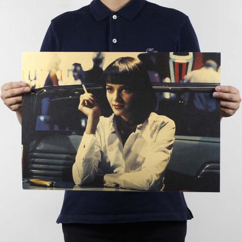 Фильм ретро постер винтажный аниме автомобиль плакаты и принты кофе кухня гостиная декоративная живопись крафт-бумага наклейки на стену - Цвет: 17