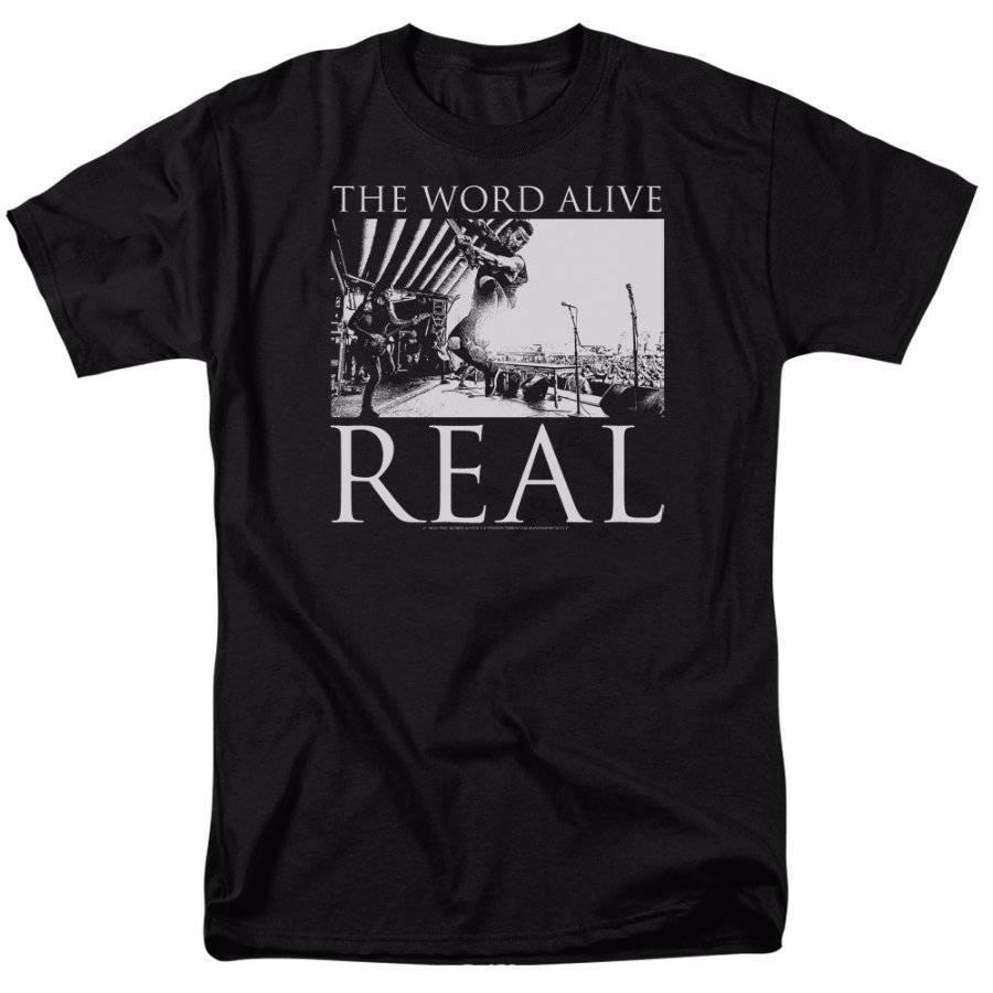 Слово Живой Live выстрел черная футболка S-5XL