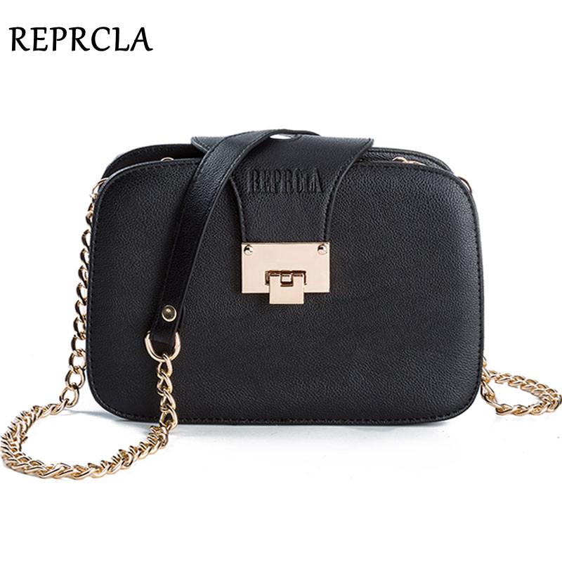 Prix pour Reprcla d'été nouvelles femmes de mode sac à bandoulière chaîne rabat sangle messenger sacs designer sacs à main d'embrayage sac avec boucle en métal