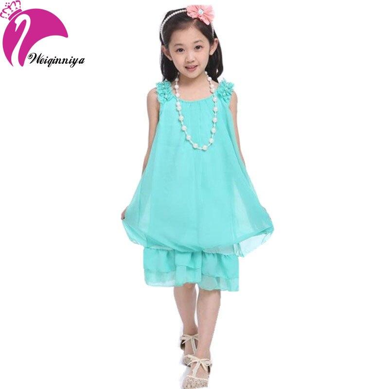 70ffc96bf18b Summer Dresses For Girls 2018 Kid Girls Sleeveless Chiffon Dresses Casual  Bow Children s Girl Clothes Vestidos Infantil-in Dresses from Mother   Kids  on ...