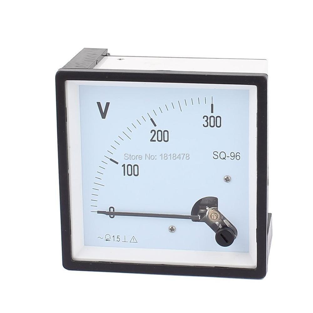 SQ96 указатель иглы переменного тока 0-300 в 450 в 250 в 500 В Вольт тестер панель Аналоговый вольтметр 96 мм x 96 мм