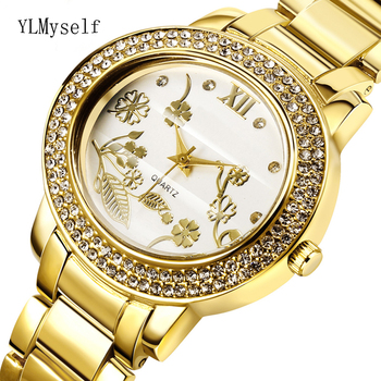 2020 big Women Rhinestone fashion Watches Lady Dress watch trendy ladies Crystal Quartz Clocks Luxury brand Bracelet Wristwatch yaqin fashion elegant women s rhinestone quartz watch lady casual luxury dress bracelet watches diamond crystal clock