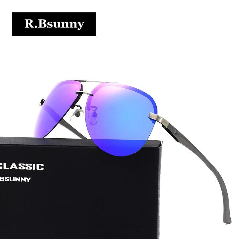 R Bsunny aluminum magnesium polarized men sunglasses women classic Brand Designer Mirror driving Eyewear Pilot sun