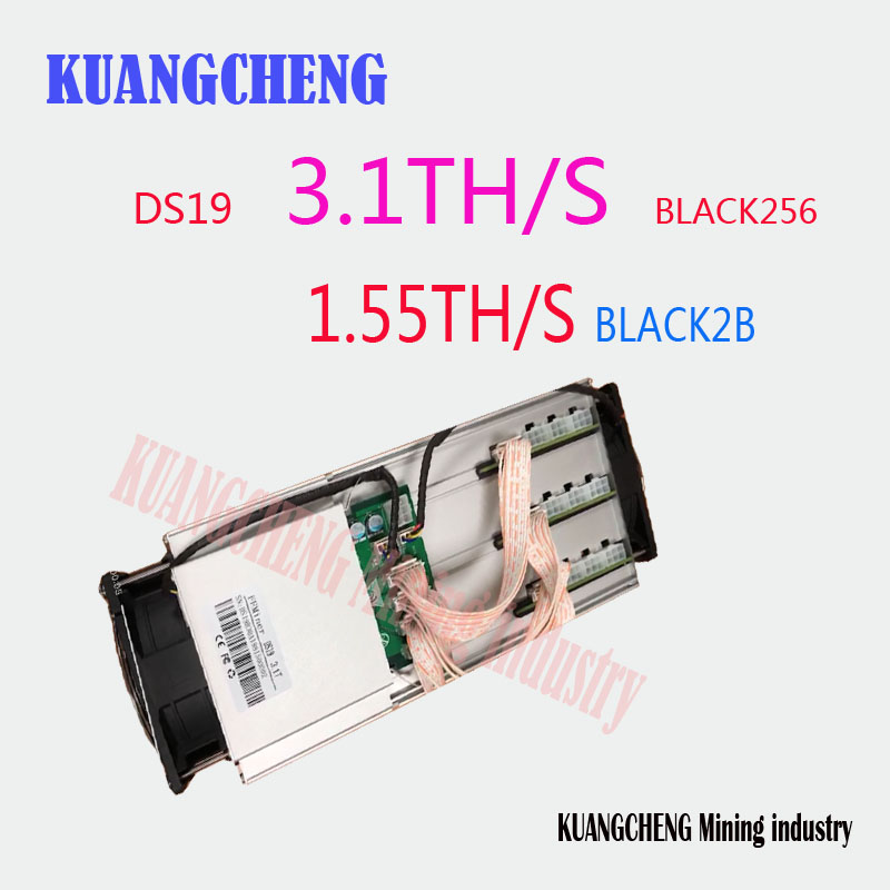 Kuangcheng Fast Ship FFMiner DS19 DCR/SC HIR Miner  Double Model DCR/SC Miner DS19 Blake256/Blake2B  3.1TH/S Innosilicon D9
