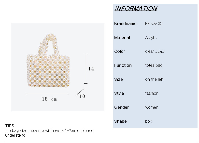pearls bag beading Vintage box totes women evening party Small mini handbag 2019 summer luxury brand wholesale wholesale