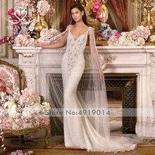 Swanskirt Wedding Dress mermaid vestido de noiva v-neck