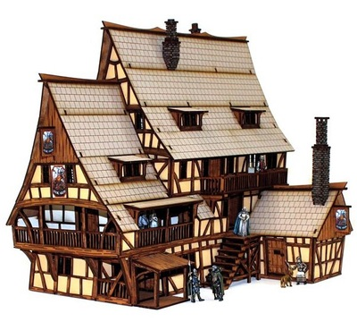 Malt Pub For Gloomhaven Church War Table Board Games Hammer PP Infinity TRPG Tabletop RPG Panel Laser Cutting Size 38*28*30cm