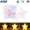 Alimentado Por Bateria AGM Mini Bonito Em Forma de Estrela Sorriso da Cara Da Estrela Lâmpada LED Para Decorar o Quarto de Dormir Criança Crianças a Luz Da Noite luminar
