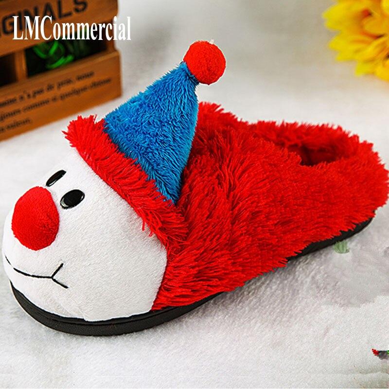 Special cotton slippers, winter home warm shoes, heavy confinement shoe Christmas shoes home slippers pantoffels women men slipp
