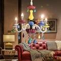 Американский цветной Хрустальный подвесной светильник для мальчиков и девочек  детская лампа для спальни  креативная художественная свето...