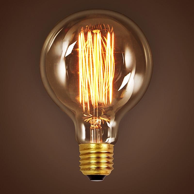 Triple Edison Bulb Lamp: G80/G95 Vintage Edison Bulb Light Incandescent Bulbs E27