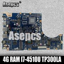 Asepcs TP300LA Laptop motherboard for ASUS TP300LA Q302LA Q302L TP300 TP300L Test original mainboard 4G RAM I7-4510U