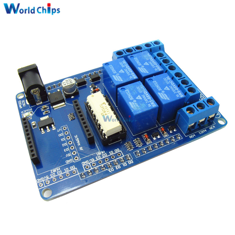 Relay Shield Relais Schild V1.3 5V 4 Kanal Channel für Arduino