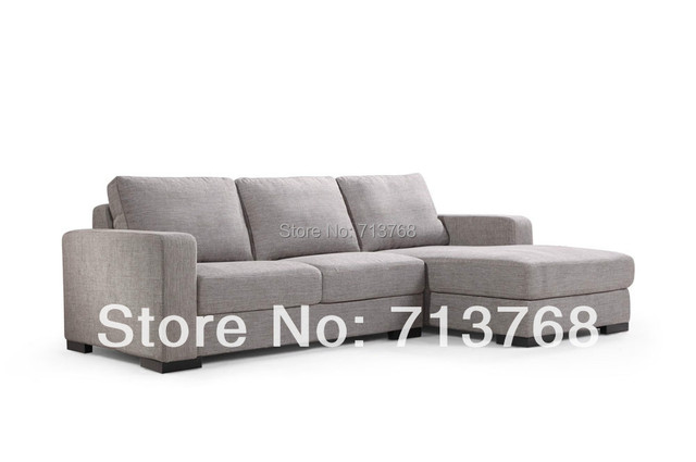 Modern Polyester Fabric Sofa Furniture Modul 2 Pieces Corner Lounge Mcno462