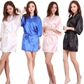 High Grade Satin Chiffon Robe Solid Spring Summer Sexy Women Bathrobe Home Clothes Sleepwear Bath Robes Women's Dressing Gown