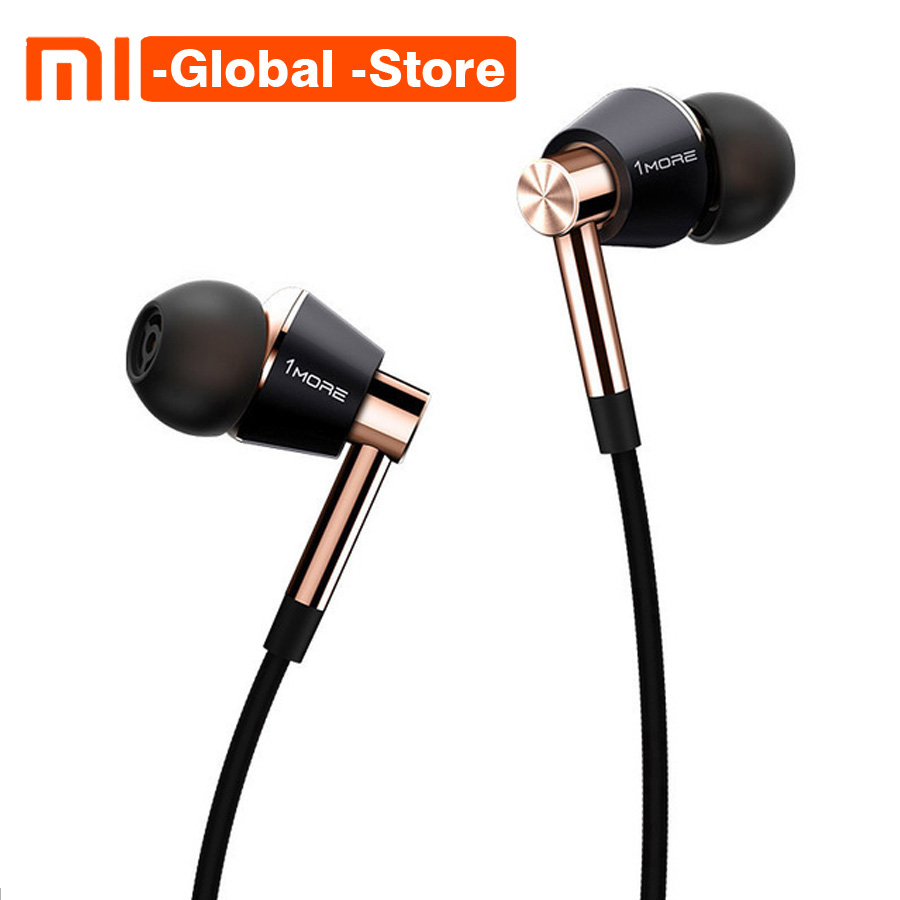 1 PLUS Triple Pilote E1001 Titane In-Ear Écouteurs Écouteurs pour iOS Android Xiaomi Téléphone Compatible En-ligne Microphone À Distance