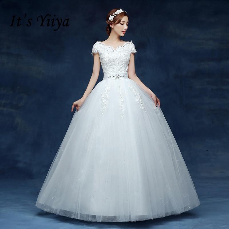Free Shipping Vestidos De Novia Real Photo White V-neck Vintage Lace Wedding Dresses Short Sleeves Bride Dress Ball Gowns HS220