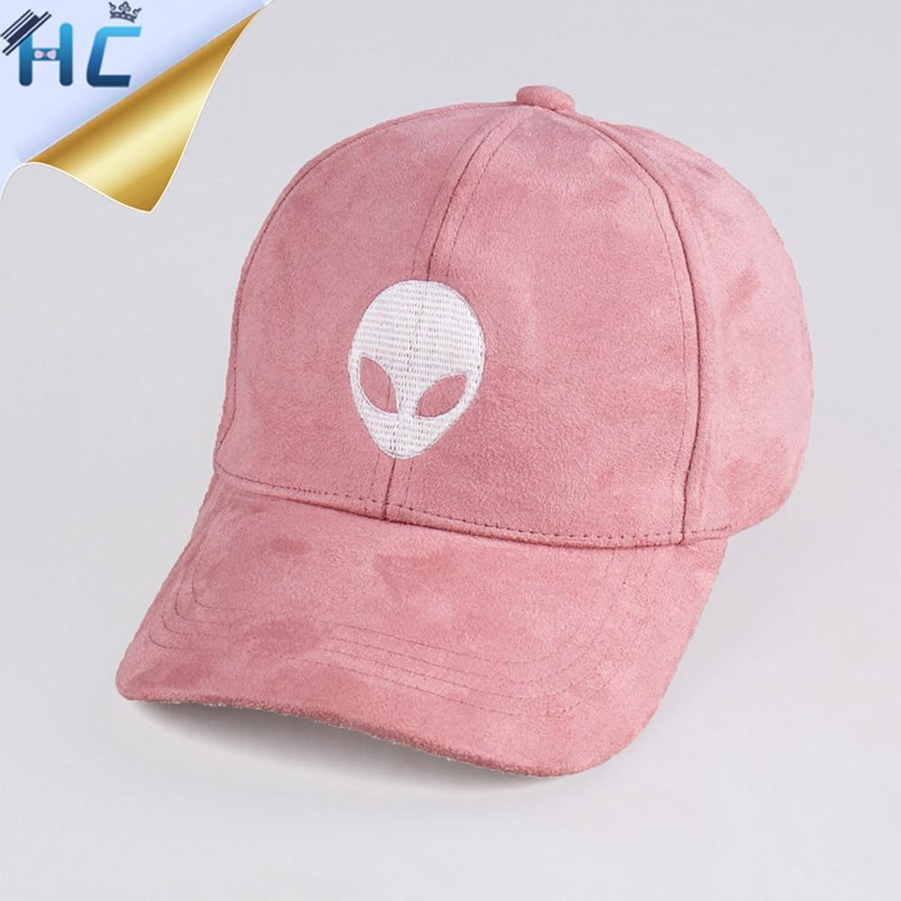 Prix pour 2016 Nouvelle Marque Gorras Étrangers Outstar E.T UFO Fans Noir Rose daim Snapback Casquette de baseball Pour Hommes Femmes Hip Hop Chapeau Casquette