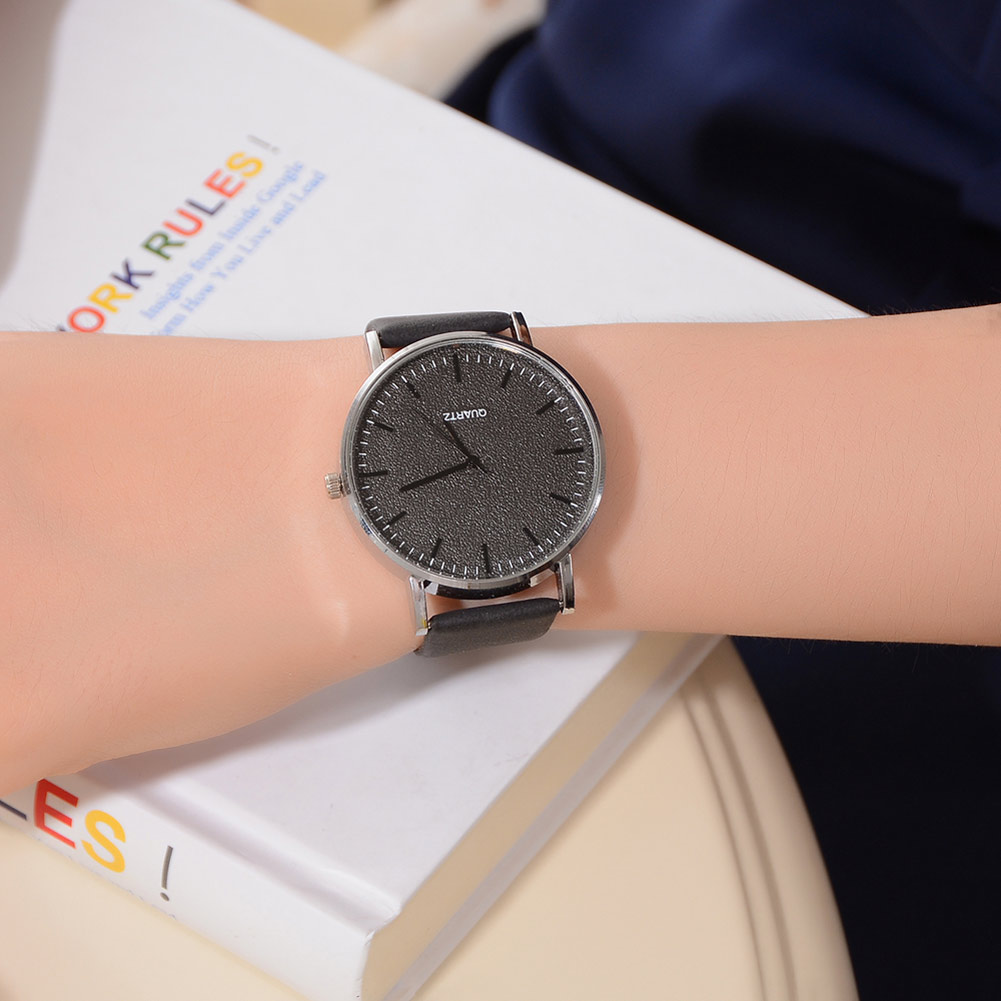 Simple Style Classic Quartz Wrist Watch With PU Leather Strap Casual Watches LL@17