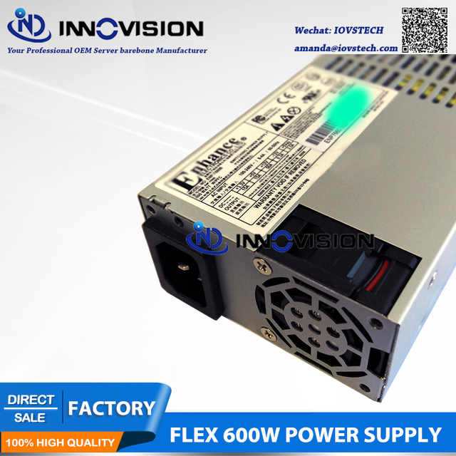 US $126 0 |New ENP 7660B 1U mini flex 600w power supply with 2*6+2 GPU  Connector-in PC Power Supplies from Computer & Office on Aliexpress com |