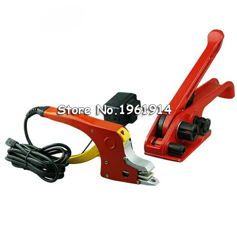 One Set Electric Welding Strapping Heating Tool Manual Seal Strapper Banding Handy Straps Tightener Tensioner Machine 220V|Wrapping Machines| |  - title=