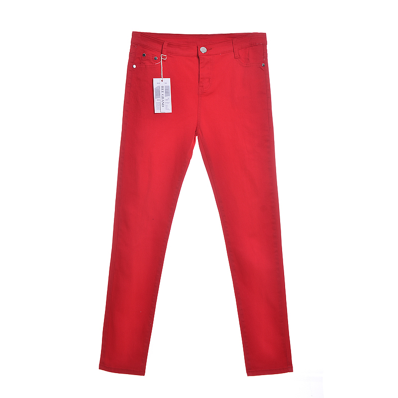 HEE GRAND Women s Candy Pants 2018 Pencil Jeans Ladies Trousers Mid Waist Full Length Zipper