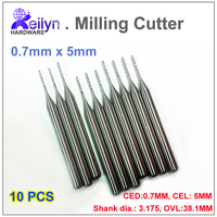 10pcs 0 7x5x3 175mm PCB Milling Cutter Carbide End Mill CNC Cutter Rountering Tool Mini