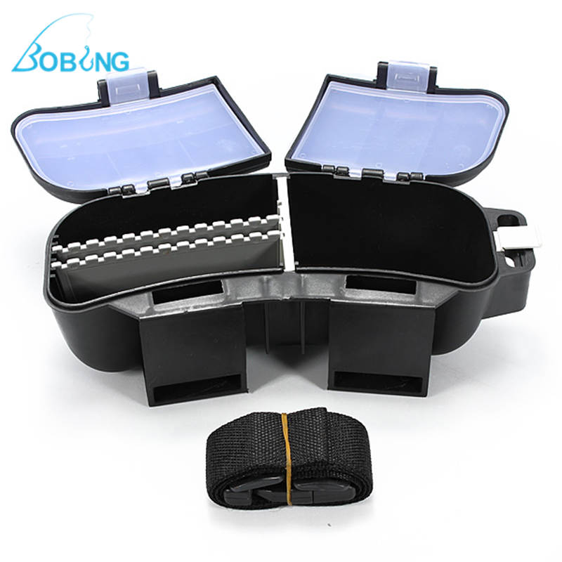 New Arrival Portable Fishing Lures Baits Spoons Hooks Reels <font><b>Float</b></font> Storage Bag Tackle Box with Waist Belt Case Cover Holder