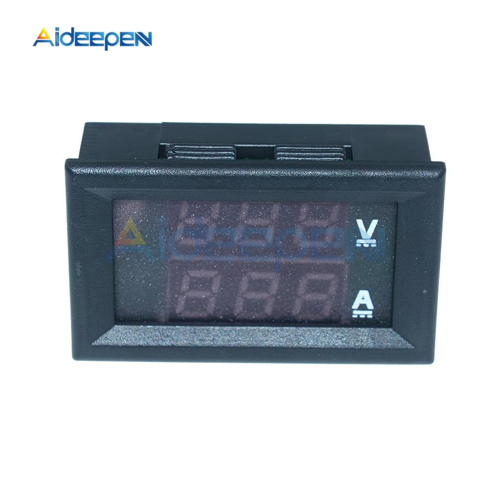 """Mini Digital Voltmeter Ammeter DC 100V 10A Voltmeter Current Meter Tester 0.28"""" 0.28 inch Blue+Red LED Amp Dual LED Display 9"""