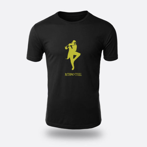 Jethro Tull Yellow Tees Men's Black S-3XL T-shirt