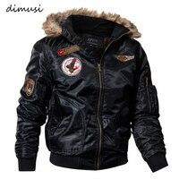 DIMUSI Mens Winter Jacket Coats Thick Thermal Cotton Parka Jacket Men Faux Fur Warm Hoodies Tactical Jackets Parks Homme,TA035