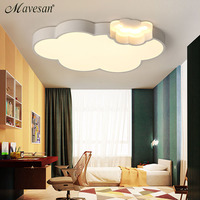Remote Control Ceiling Lights LED Lamp White Color Art Cloud Type For Bedroom Living Room Home