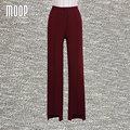Wine red suit pants OL style high waist straight pants trousers full pants pantalon femme pantalones mujer LT587 free shipping