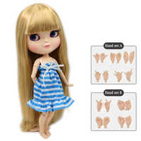 ICY DBS DOLL free shipping small breast azone body fortune days 280BL0736 golden hair with bangs 30cm with hand set