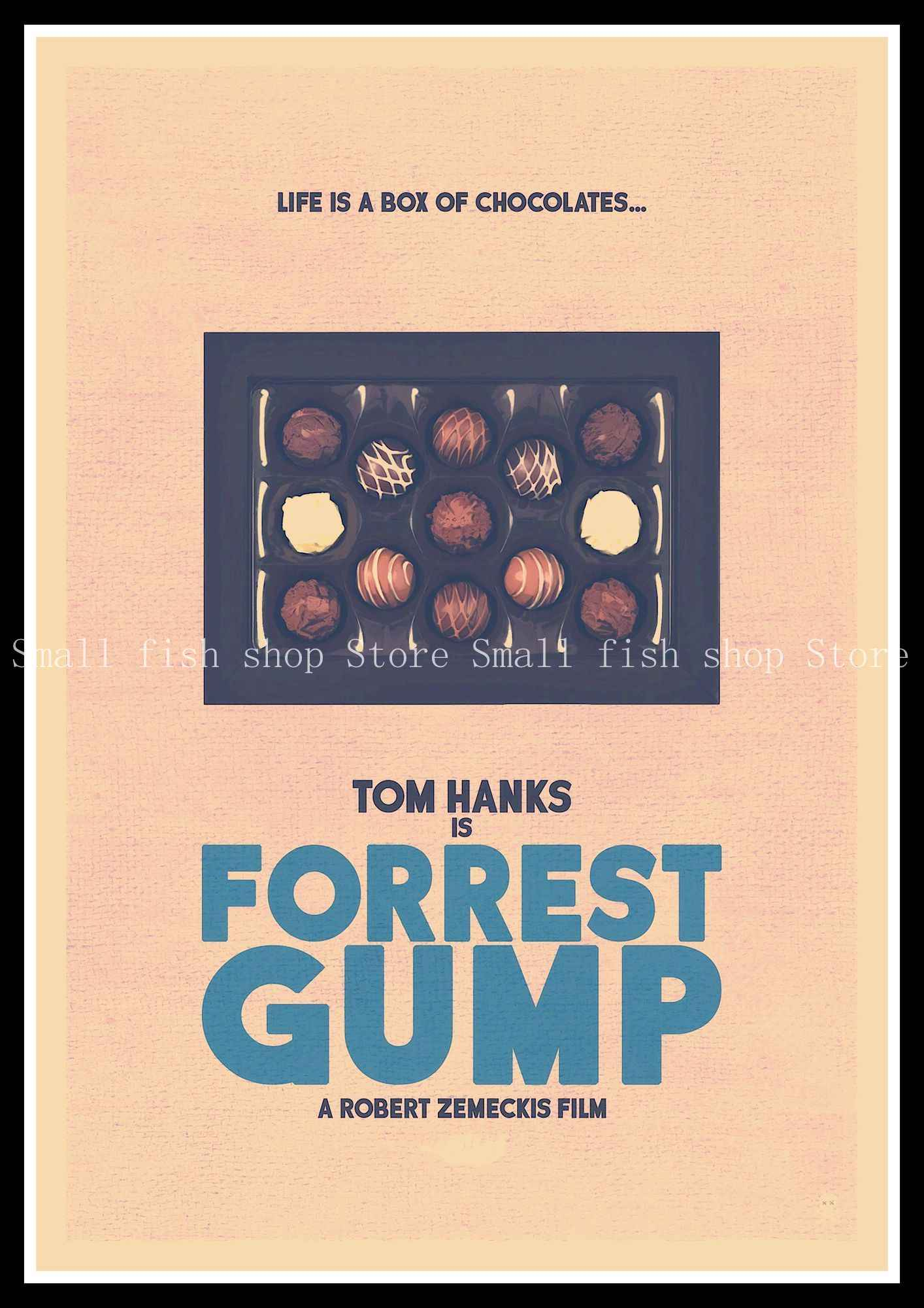 ef00583b2e8a13 ... Forrest Gump Vintage Retro Decorative Frame Poster Wall Posters Home  Decor Gift 42 30 cm