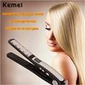 Kemei 100-240V LED Display Dry & wet Ceramic Hair Straightener Flat Iron Straightening Styling Tools Temperature Adjustable P00